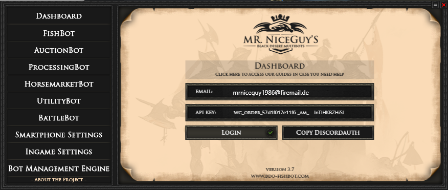 About Mr NiceGuys Black Desert Bot, Fishbot, Auctionsniper +